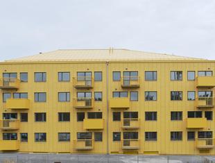 Żółty blok w Szwecji