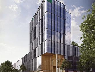 Kolejny biurowiec z lat 90. do rozbiórki! Lixa zastąpi dawną siedzibę Kredyt Banku w Warszawie.